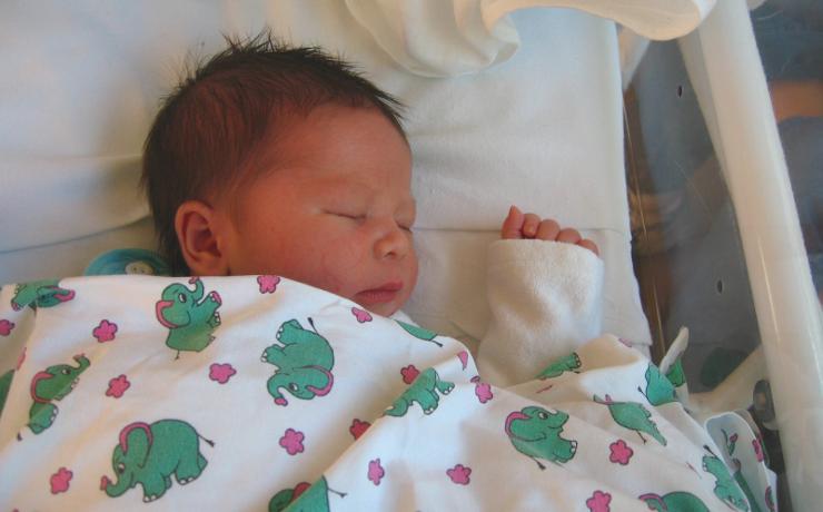 Foto: Marco nach der Geburt