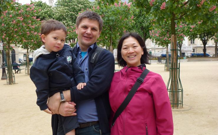 Foto: Familie Lam-Kuehn, Gruppenbild Paris